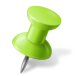 green_right_pushpin