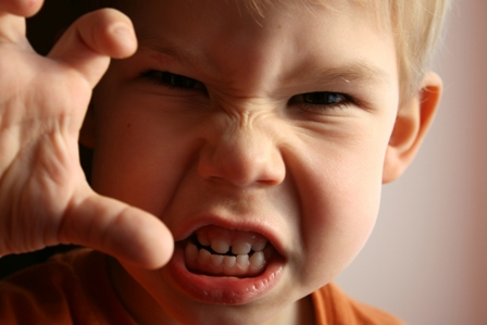The child in anger.